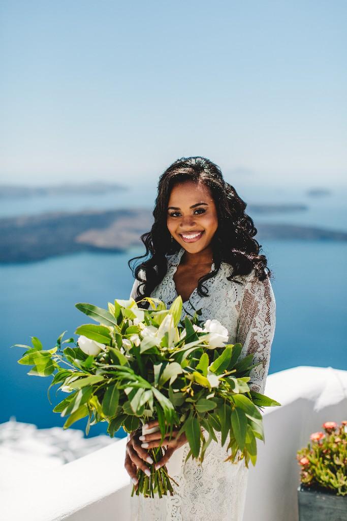 d035948a7 Jermaine Chase and Faith, May 2019   Divine Weddings Santorini ...