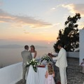 Cliff Yard Conference wedding in santorini