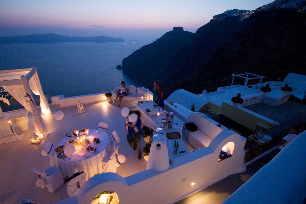 Private Dinner At Dana Villas Wedding Terrace Divine