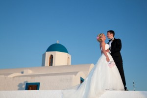 Wedding at Profitis Elias Santorini