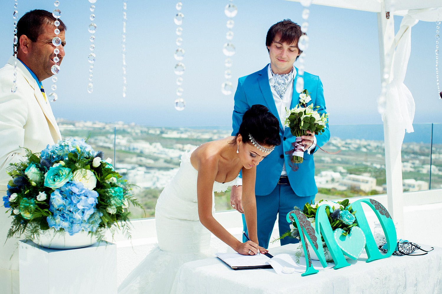 Maria & Dmitry Wedding in Santorini