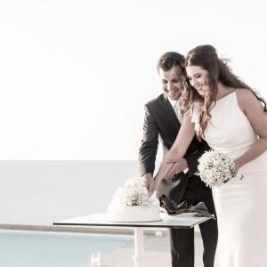 Alana & Theo Wedidng in Santorini