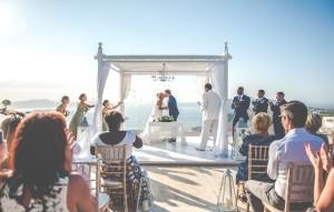 Salma & Warren wedding in Santorini