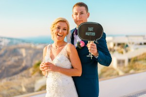 Dennis & Jacqui, Wedding in Santorini!