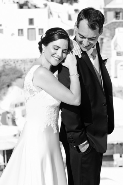 Inma & Agustin, Wedding in Santorini!