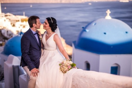 Anna & Mark, Wedding in Santorini!