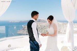 Charlotte & Scott, Wedding in Santorini!