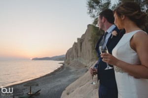 Sian & Neil, Wedding in Santorini!