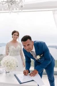 Ellie & Marcus, Wedding in Santorini!