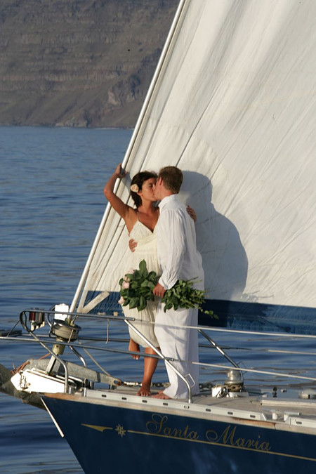 Sailing Ship Yacht Weddings Santorini Gallery Divine